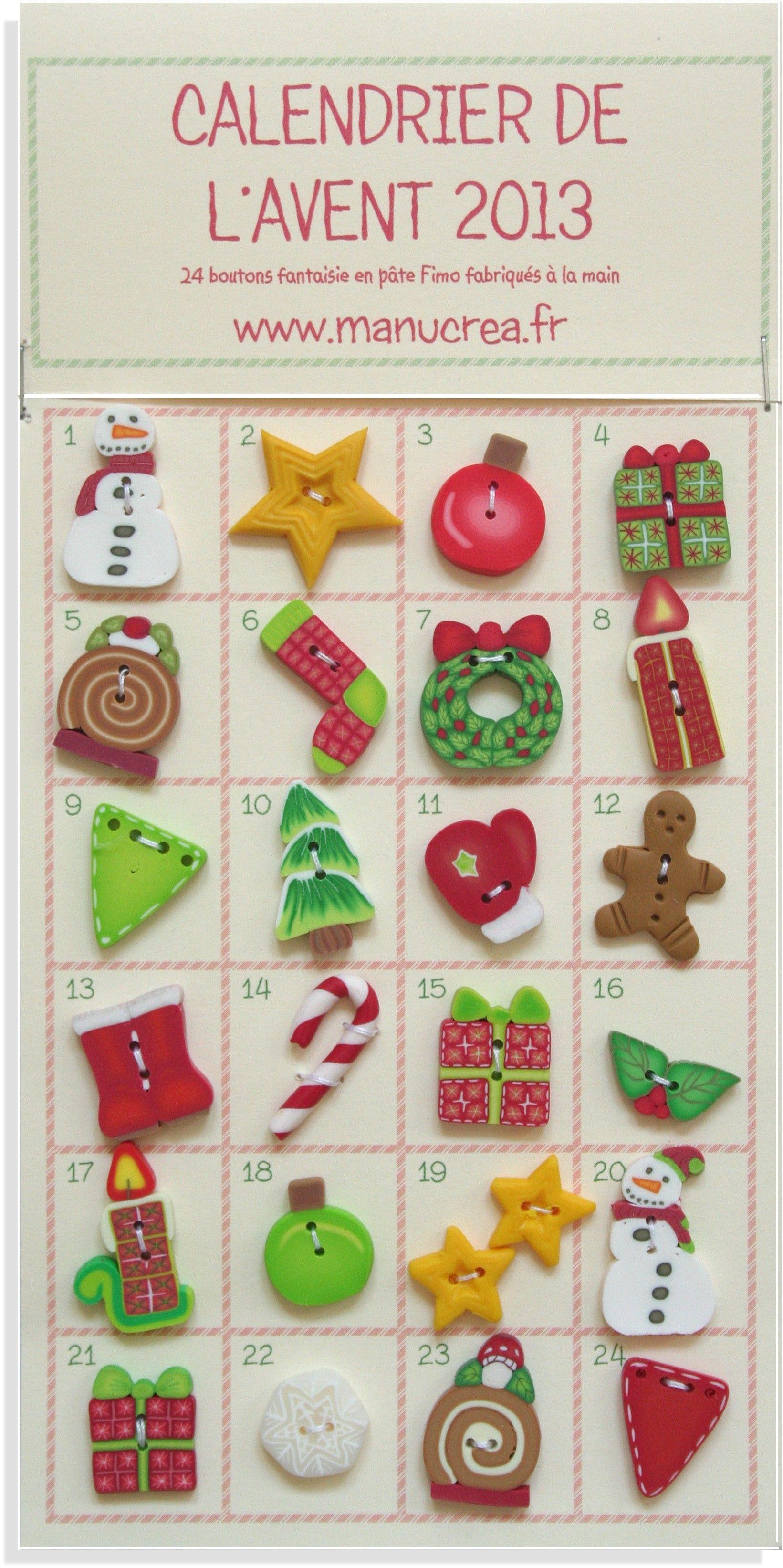 calendrier de l'Avent : 24 boutons sur le thème de Noël!   Aline ♥