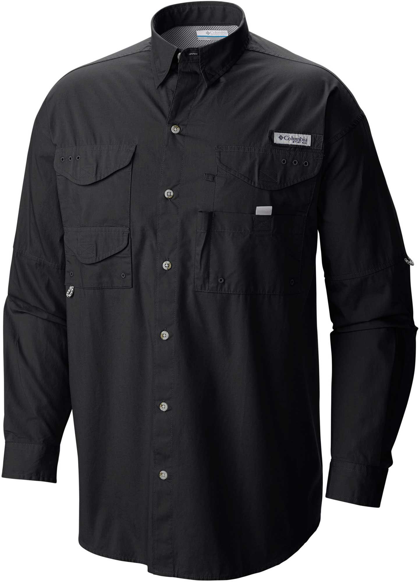 cadd8e44da7f4 Columbia Men's PFG Super Bonehead Classic Long Sleeve Fishing Shirt, Size:  LT, Black
