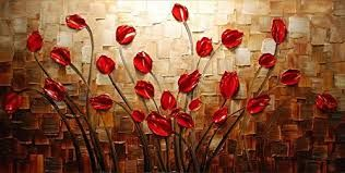 Image result for painting flowers on canvas