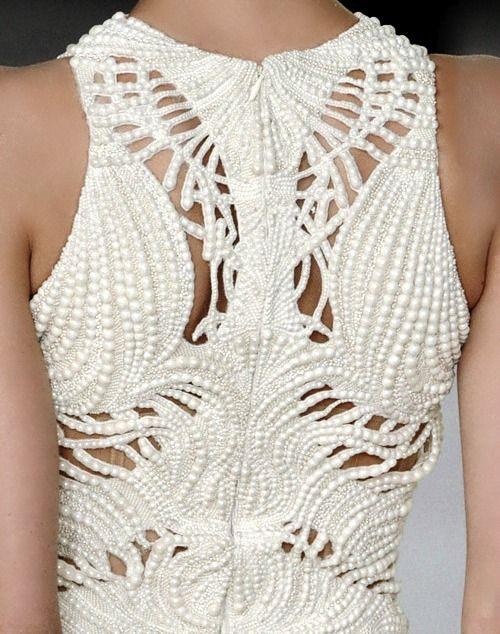 Detail from Alexander McQueen SS 2012 Image Via: I Am Ilgin  #White