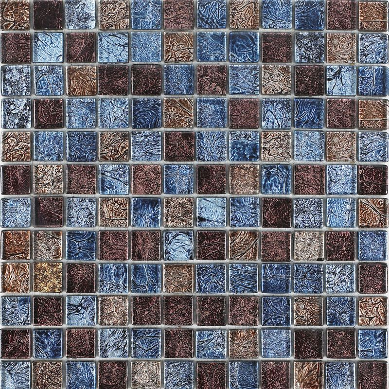 Glossy glass tile backsplash ideas bathroom mosaic sheets brown and ...