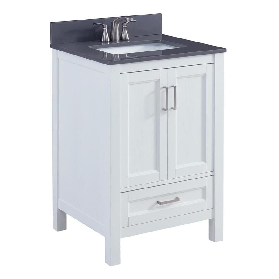 Scott Living Durham White Undermount Single Sink Bathroom