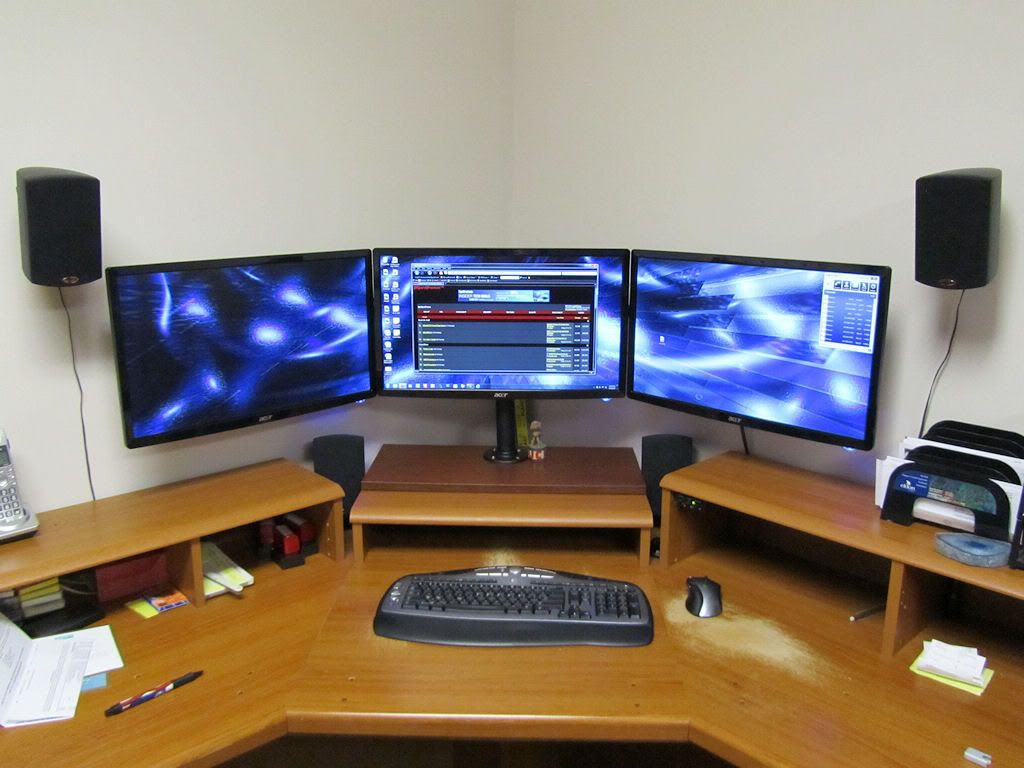 Wow Diy Triple Monitor Stand My Take On It H Ard