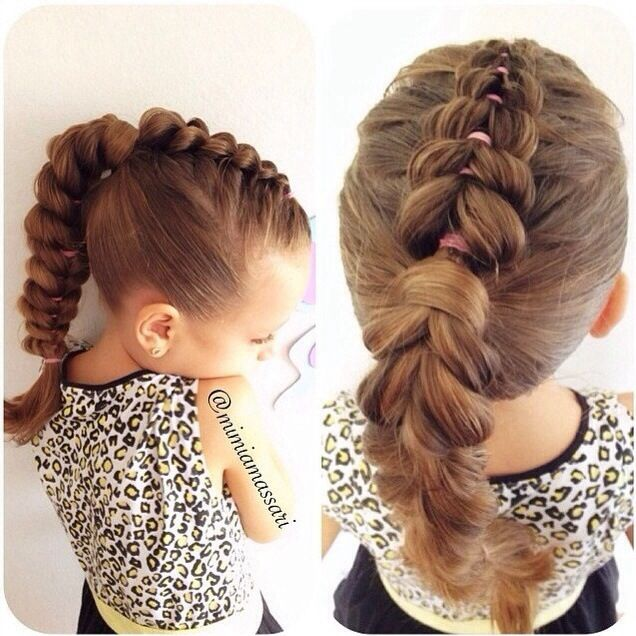 hair styles for heavy pull through braid into a ponytail hairstyle 8472