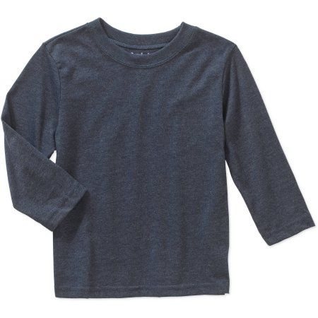 Garanimals Baby Toddler Boys' Long Sleeve Solid Heather Tee Shirt, Toddler Boy's, Size: 25 Months, Blue