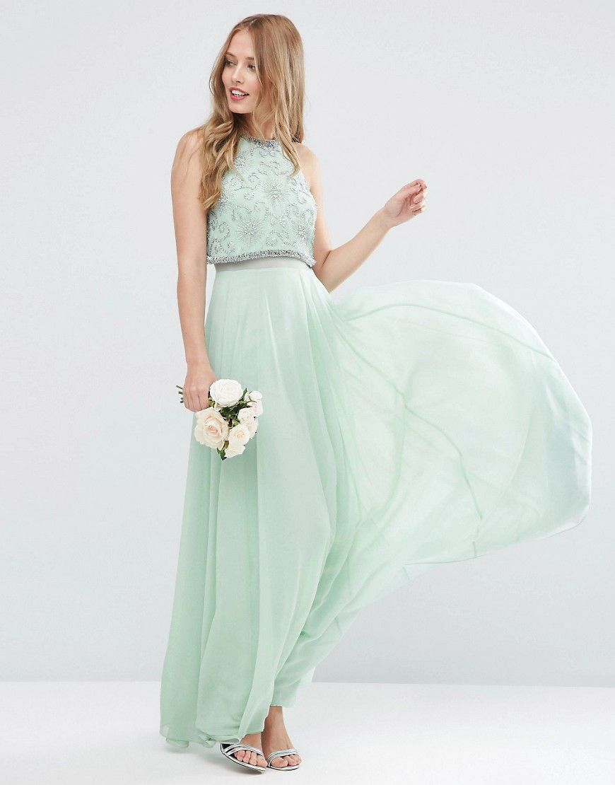 Mint Mismatched Bridesmaid Dresses Prom Maxi DressesWedding