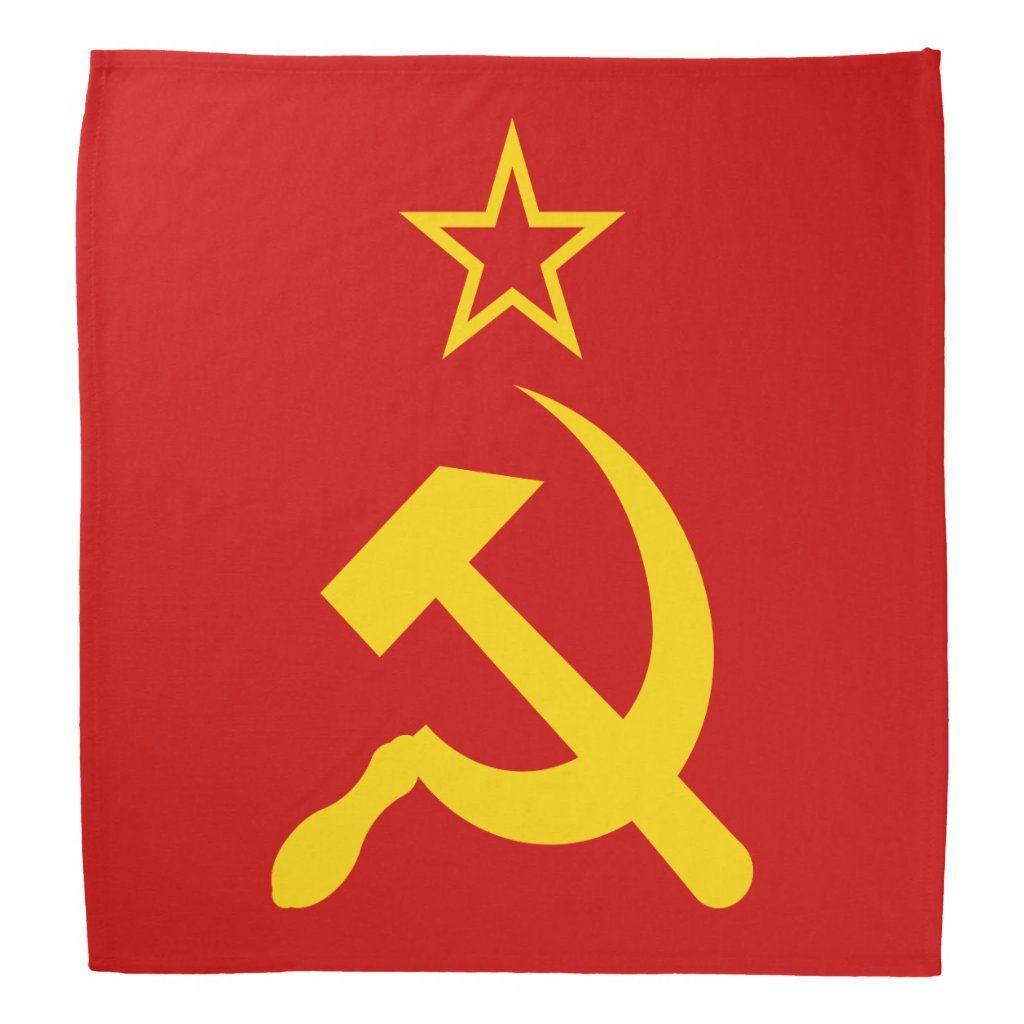 Ussr Flag Soviet Union Flag Bandana Zazzle Com Ussr Flag Soviet Union Flag Historical Flags