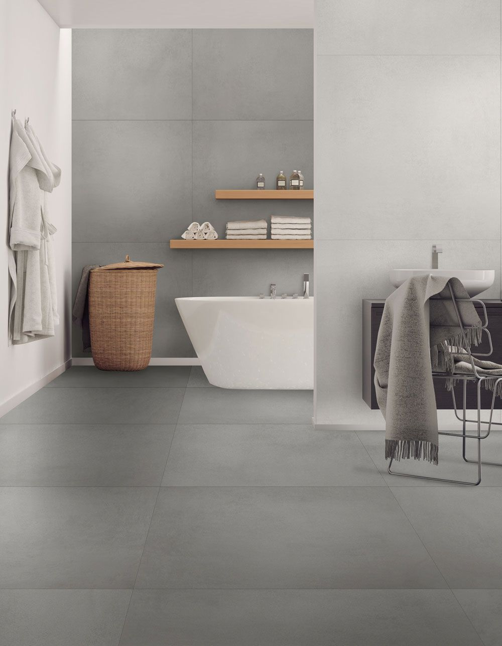 Seneste Link-serien: Fliseserie med elegant beton-look. Fliserne i Link JP08