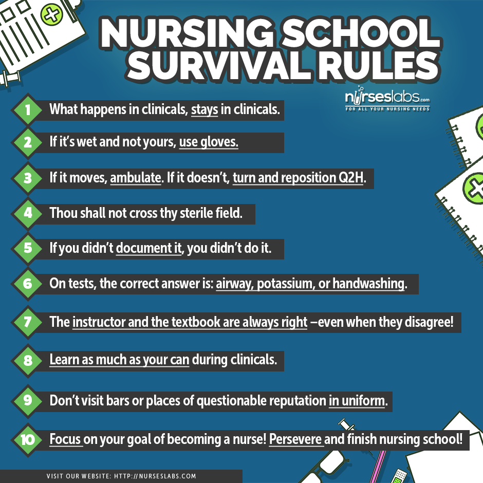 clinical exposure tips for student nurses i want to i want rules for surviving nursing school here are 10 tips to maximize every nursing student s first
