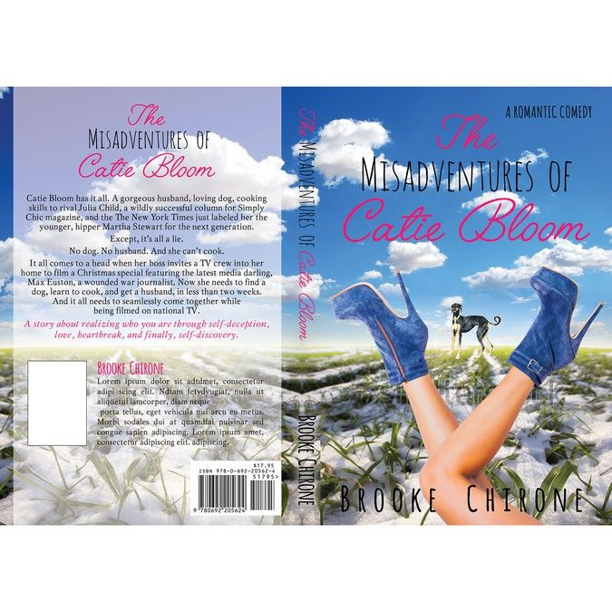 Create a romantic comedy book cover for The Misadventures of Catie Bloom by dalim