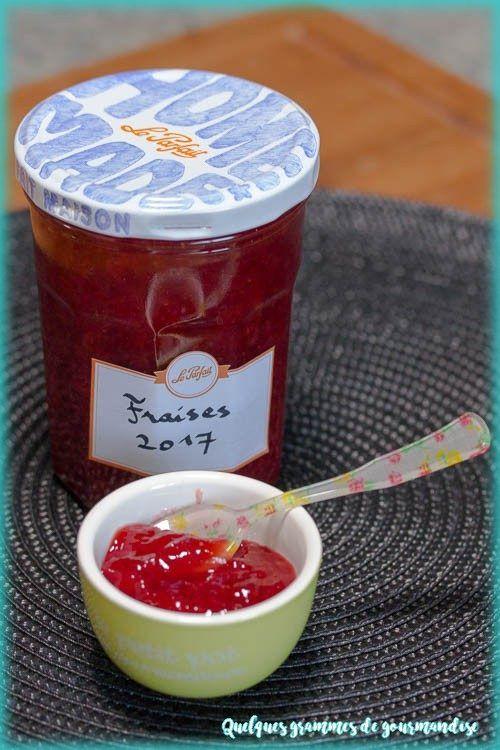 confiture de fraise a l'agar agar