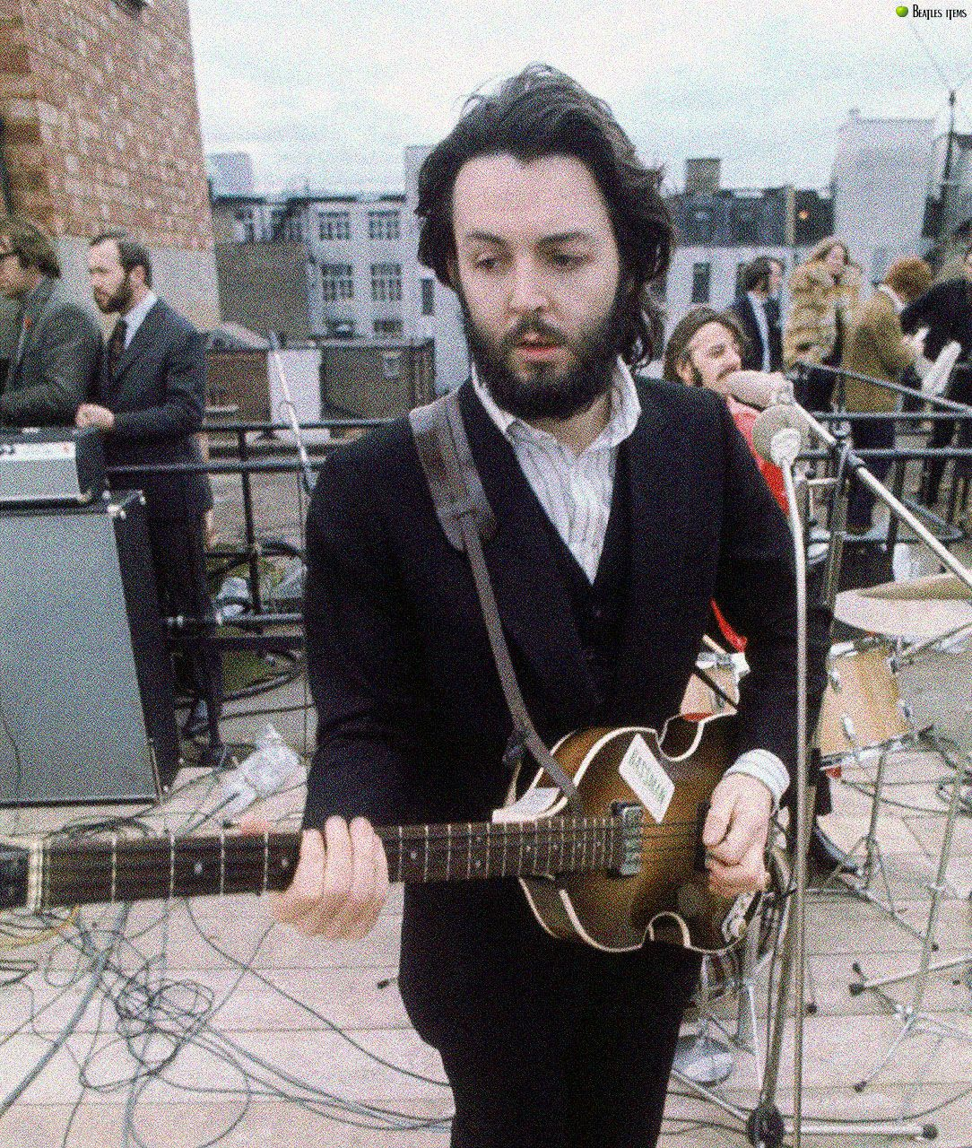 1969 - Paul McCartney, The Rooftop Concert, 30th January ...