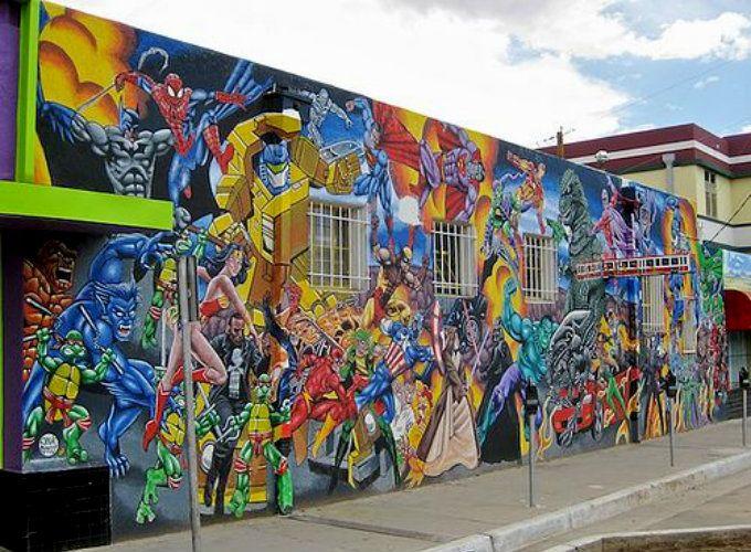 Street Art in Albuquerque [comic wall] (México)