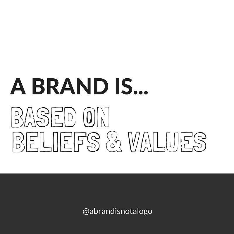 A brand is not just a logo... it's an entity that is built