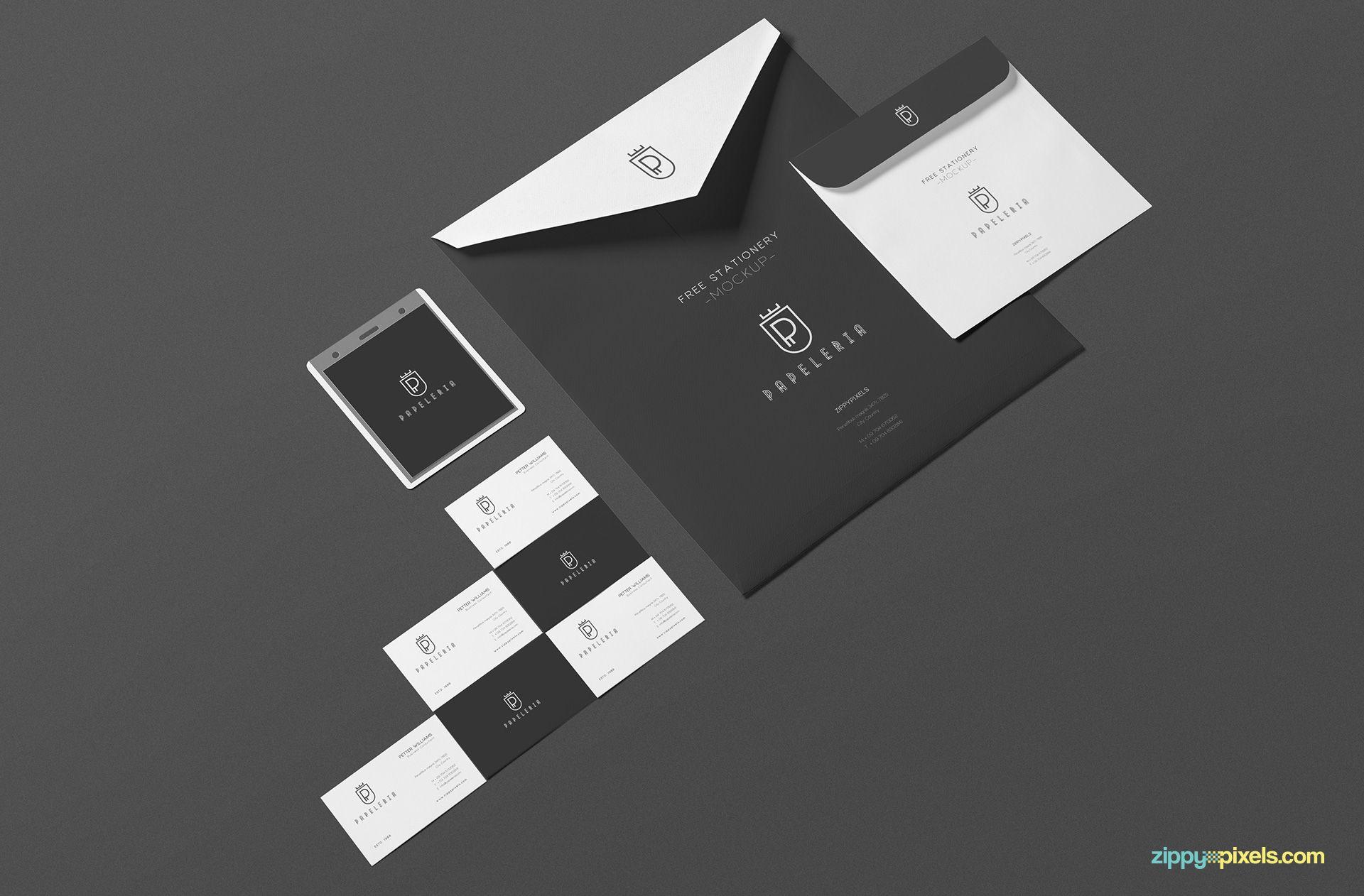 Beautiful Envelope Mockup Free PSD