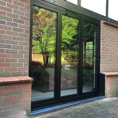 Black Bifold Doors & Black Bifold Doors | Bi-folding Doors | Pinterest | Leatherhead F.C. ...