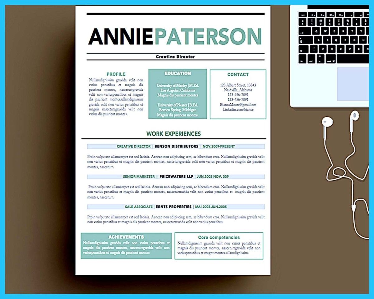 Awesome Custom And Unique Artistic Resume Templates For Creative
