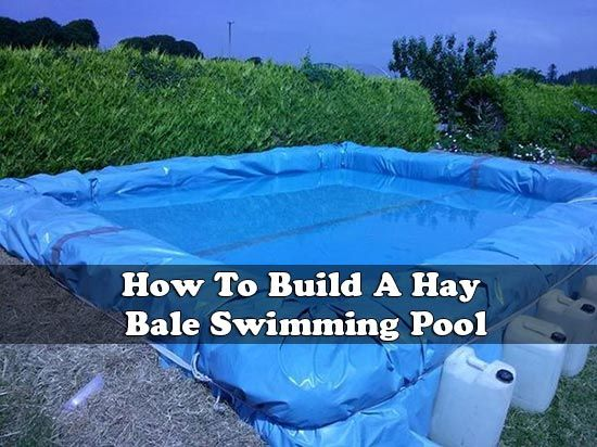 How to build a hay bale swimming pool how to build a hay - Redneck swimming pool with hay bales ...