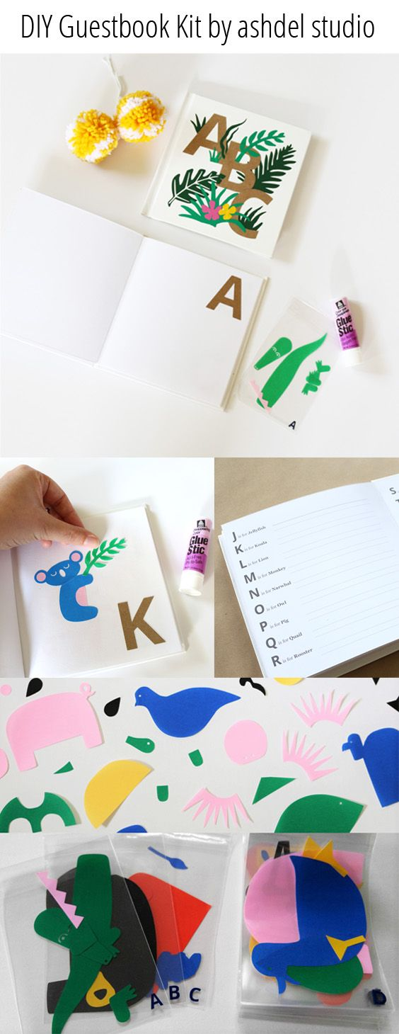 bridal shower keepsake book%0A Diy alphabet animals baby shower guestbook activity and keepsake diy  alphabet animals baby shower guestbook activity