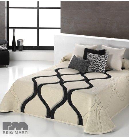 couvre lit tiss jacquard lenny noir et blanc pinterest tissu jacquard couvre lit et jacquard. Black Bedroom Furniture Sets. Home Design Ideas