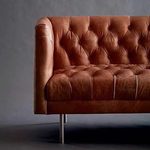 Modern Chesterfield Leather Sofa 79