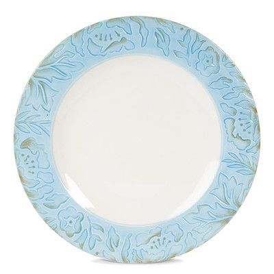 "Fitz and Floyd Toulouse 11"" Dinner Plate Color: Blue"