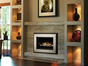 On A Gas Fireplace The Shadowbox Looks Like Picture Frame Surrounds All Four Sides Of Creating Shadow Effect Around