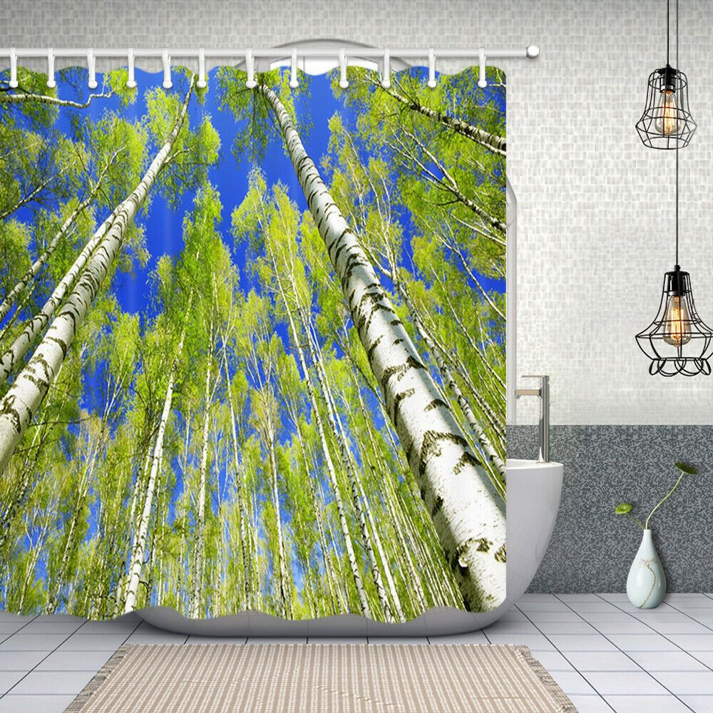 12 Awesome Initiatives Of How To Improve Nature Shower Curtain Curtains Diy Bathroom Decor Shower