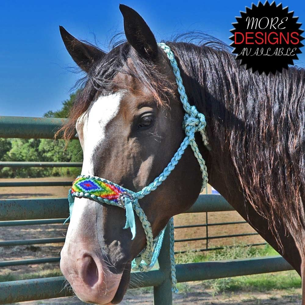 Teskey's One of a Kind Rope Halters with Bead Strips