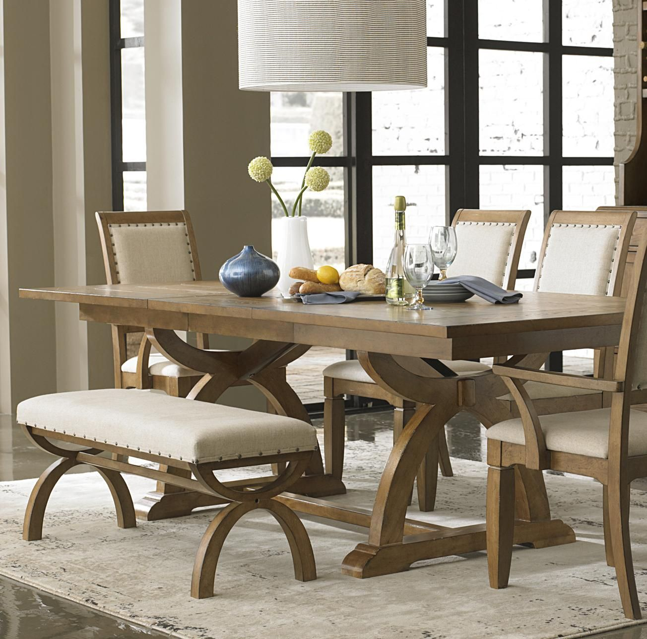 Beautiful Kitchen Table With Bench Seating And Chairs