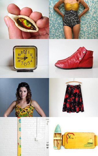 Lovely treasury by Dulce featuring the Gabrielle ear posts