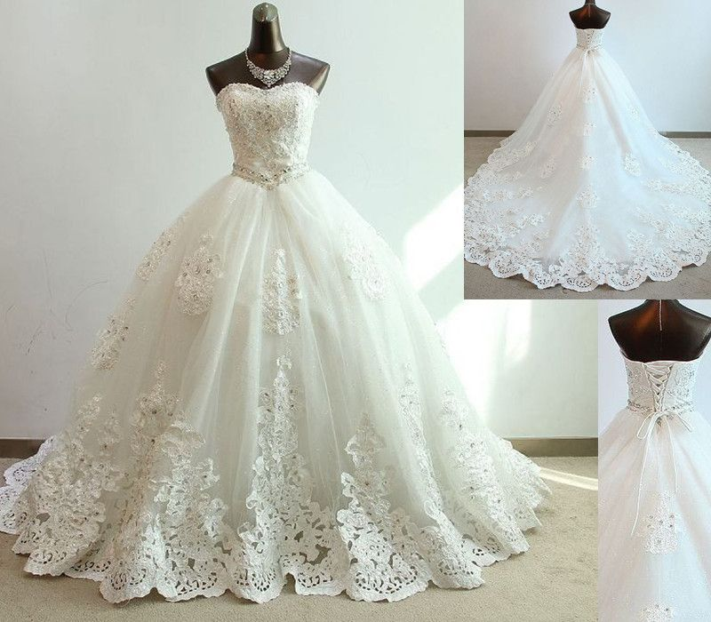 A Line Wedding DressAppliques D