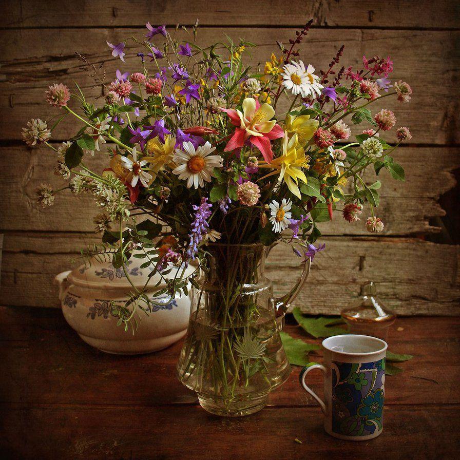 Цветы, бабушкин букет фото
