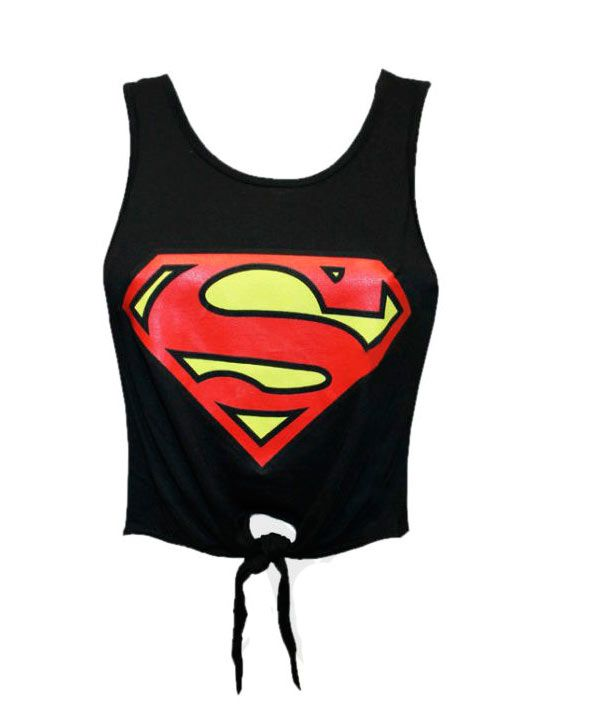 presentando funzionario di vendita caldo 100% di alta qualità Camiseta chica top Superman logo, negra | Great clothes en ...