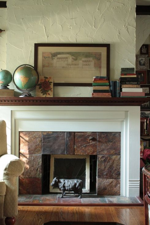Fireplace Amp Mantle Like The Mix Of Paint Stained Wood