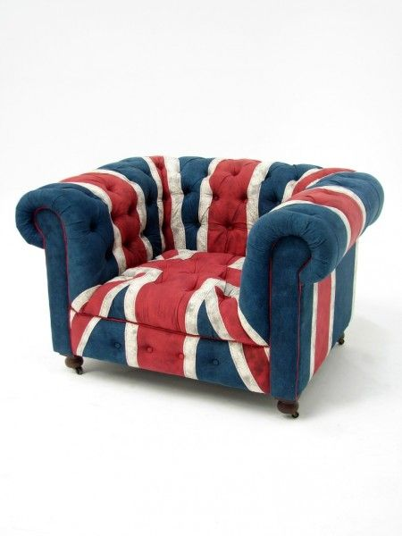 Vintage Union Jack Armchair In 2019 Chesterfield Furniture Hire