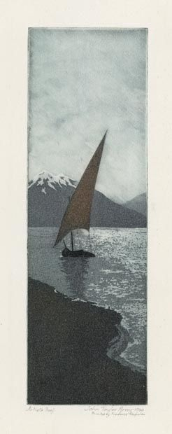 Moonlight, Number One. By John Taylor Arms. Etching and aquatint printed in color, 1920. From www.oldprintgallery.com