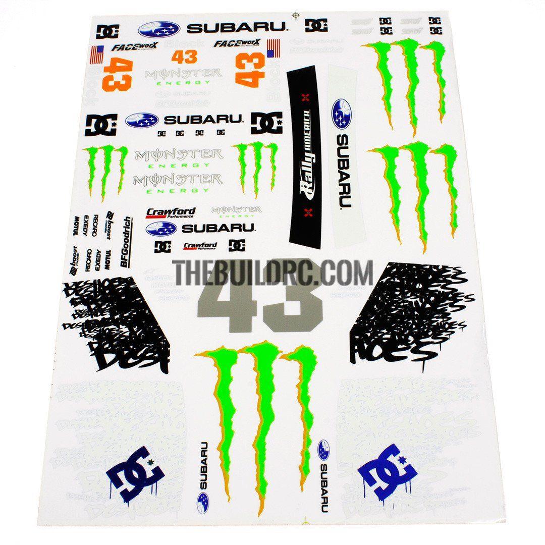 1 10 Rc Car Monster Energy Ken Block Drift Self Adhesive Body Decals Monster Energy Rc Cars Ken Block [ 1080 x 1080 Pixel ]