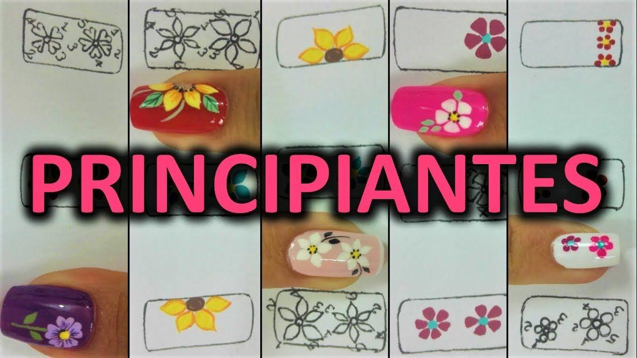 Dibujar Facil Flores En Tus Unas The Easiest Way To Paint Flowers On Y Como Hacer Unas Postizas Tutorial De Unas Decoradas Decoracion Unas De Gel
