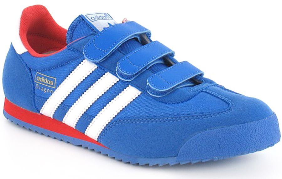 615bf721b4d6 Adidas Originals Dragon Cmf J Junior Boys Triple Bar Velcro Strap Fashion  Trainers