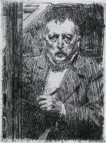 Anders Zorn 1911 Self-portrait pencil drawing by petrus.agricola, via Flickr