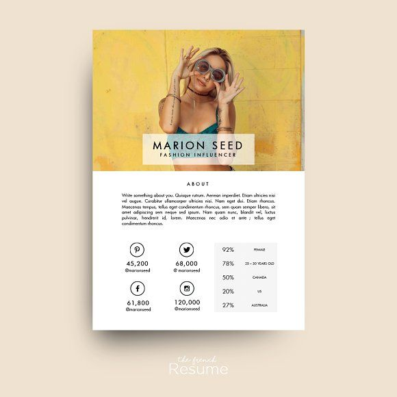 Blog Media / Press Kit Template by TheFrenchResume on