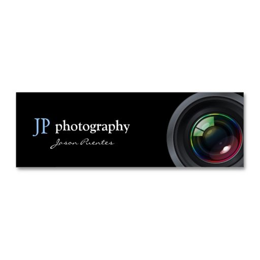 Professional Photographer Camera Lens Business Card Template. This is a fully customizable business card and available on several paper types for your needs. You can upload your own image or use the image as is. Just click this template to get started!