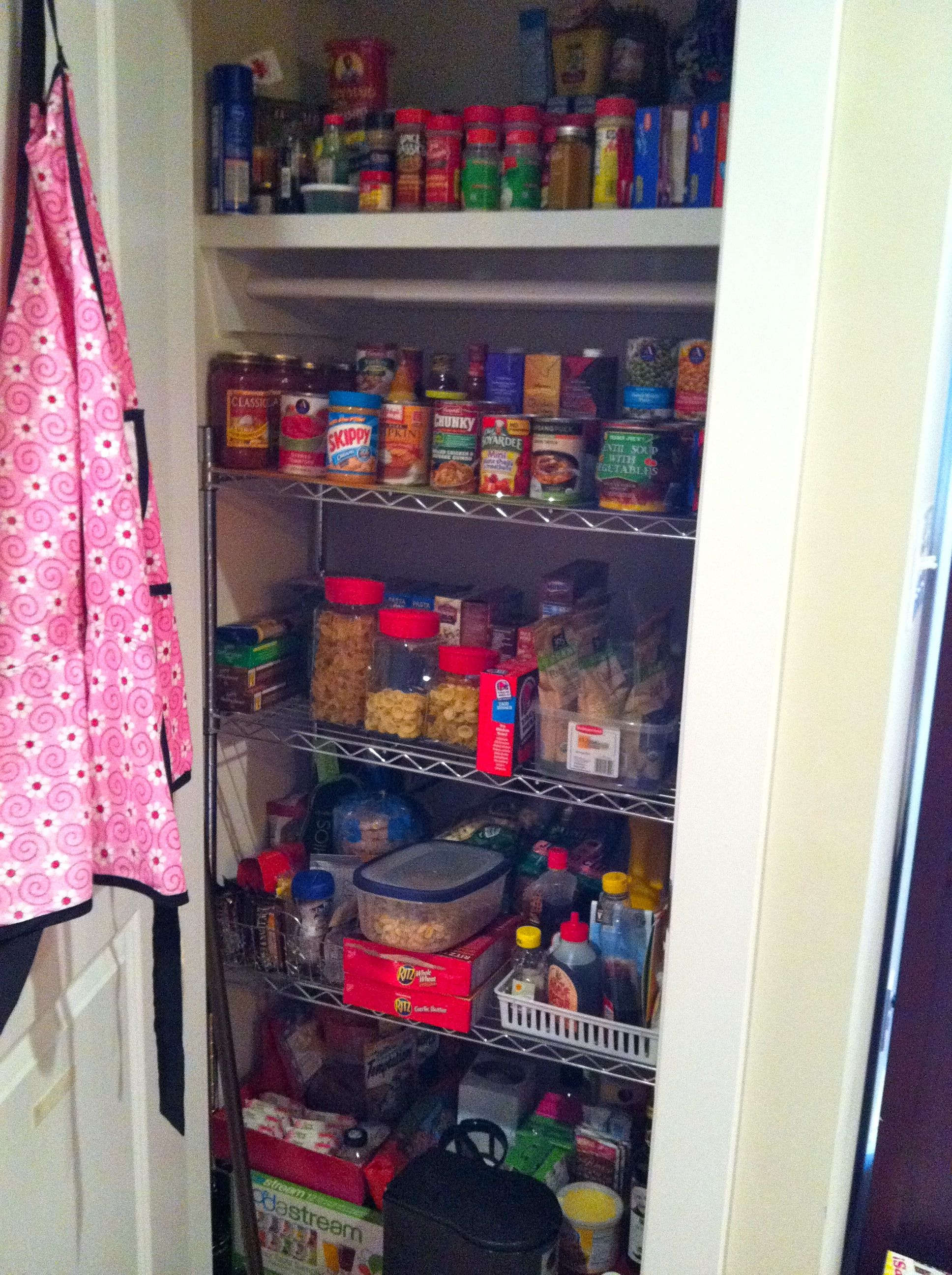 Turn An Unwanted Coat Closet Into A Much Needed Pantry. Cheap Shelving From  Home Depot U0026 Added Baskets And Boxes For Organization