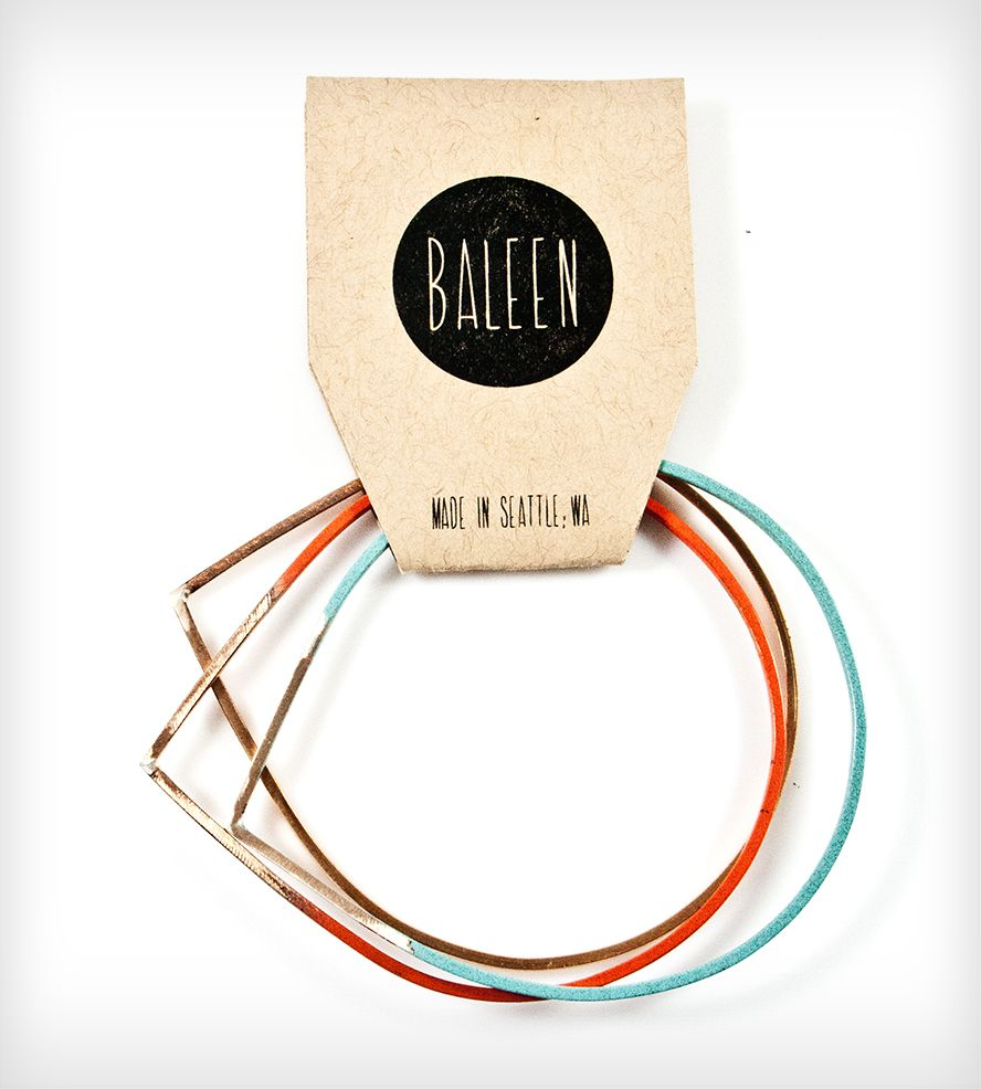 Raindrop Bangle 3-Pack - Multicolor | Women's Jewelry | Baleen | Scoutmob Shoppe | Product Detail