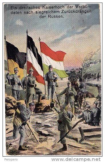 Wwi German Propaganda Postcard Celebrating The Withdrawal Of The