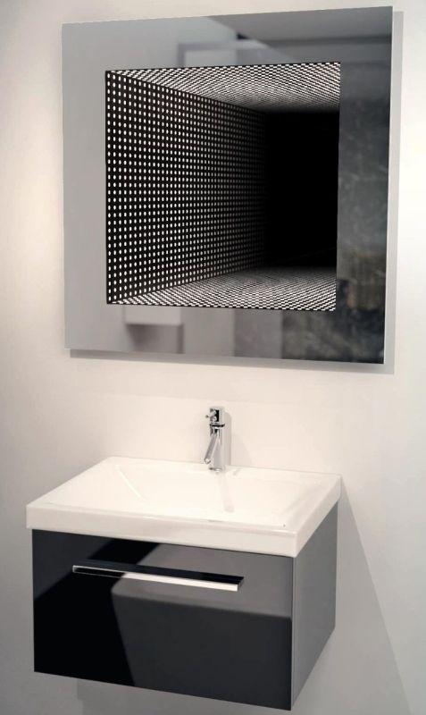 perfect reflection led bathroom infinity mirror decor pinterest salle de bain miroir and. Black Bedroom Furniture Sets. Home Design Ideas