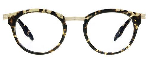 6ae6058c7a Vintage eyeglasses panto plant brown