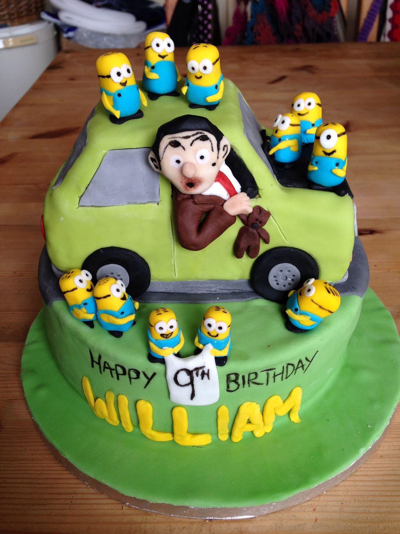 Mr Bean Amp Minions Cake 1 Mr Bean Cake Mr Bean Birthday
