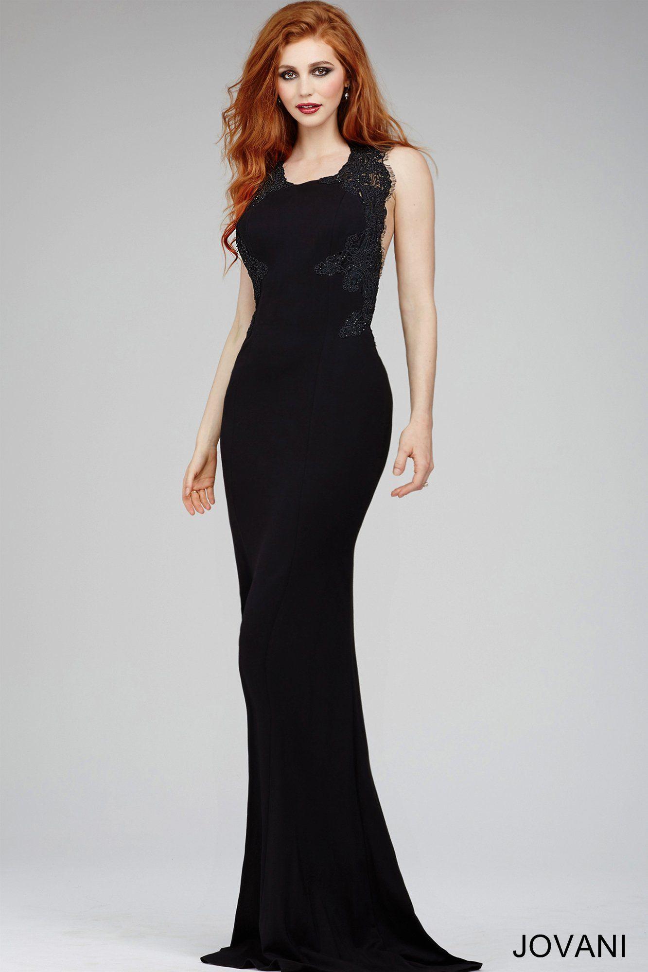 Black mermaid dress jovani pinterest black mermaid dress